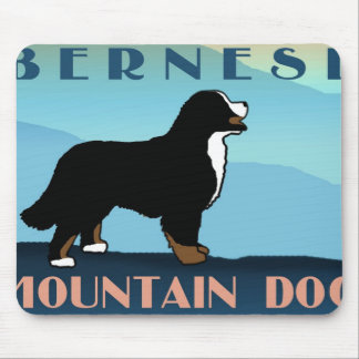 山のBernese青い犬 マウスパッド