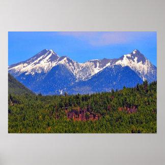 山のFlagstaffアリゾナ ポスター