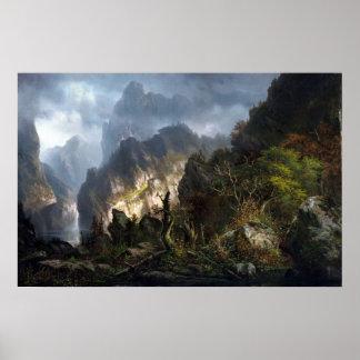 山のHermann Herzogの嵐 ポスター