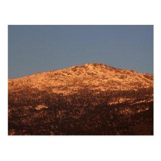 山のMonadnockの日没の白熱 ポストカード