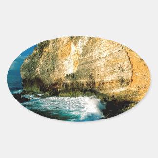 山のPointe Desの館グアダループ 楕円形シール