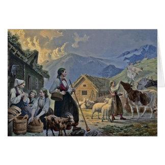 山のShepherdessの小屋 カード