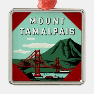 山のTamalpais旅行ポスター メタルオーナメント