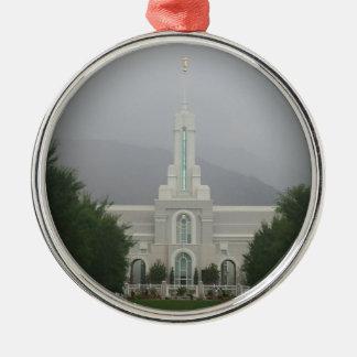 山のTimpanogos LDSの寺院、アメリカのフォークユタ シルバーカラー丸型オーナメント