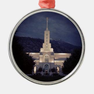 山のTimpanogos LDSの寺院、アメリカのフォーク、ユタ メタルオーナメント