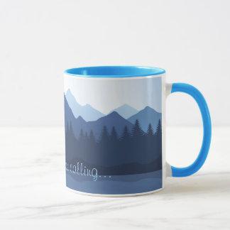 山はデザインのコーヒー・マグを呼んでいます マグカップ