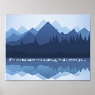 山はポスターを呼んでいます ポスター