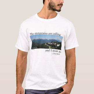 山は-ライト呼んでいます Tシャツ