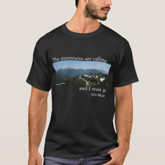 山は-暗闇呼んでいます Tシャツ