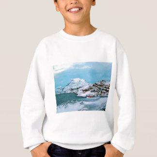 山はOzborne Wによって雪のDavuisの海峡を収容します スウェットシャツ