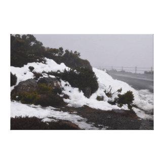 山ウェリントンホーバートタスマニア キャンバスプリント