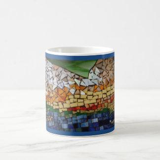 山ガラスのモザイク コーヒーマグカップ