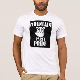 """""""山パーティープライド""""の、人のアメリカの服装のティー Tシャツ"""
