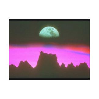 山上の月。 (moon_Space場面 キャンバスプリント