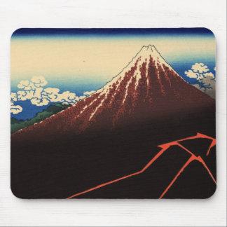 山下白雨、北斎の雷および富士山、Hokusai、Ukiyo-e マウスパッド