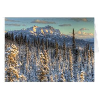 山仲間の日没 カード