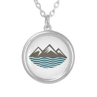 山及び海 シルバープレートネックレス