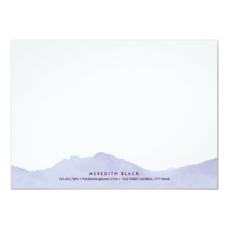 山地の名前入りな文房具の平らなカード カード