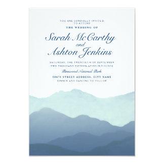 山地の結婚式の招待 12.7 X 17.8 インビテーションカード