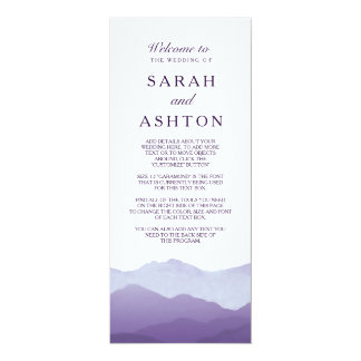 山地の結婚式プログラム カード
