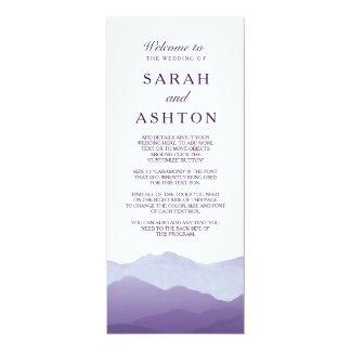 山地の結婚式プログラム 10.2 X 23.5 インビテーションカード