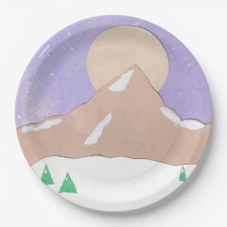 山場面の紙皿 ペーパープレート