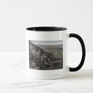 山景色からの谷 マグカップ