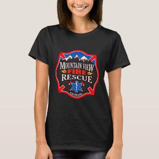 山景色の火の救助 Tシャツ