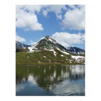 山湖の空そして雲の反射 はがき