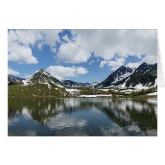 山湖の空そして雲の反射 カード