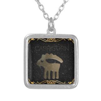 山羊座の金印 シルバープレートネックレス