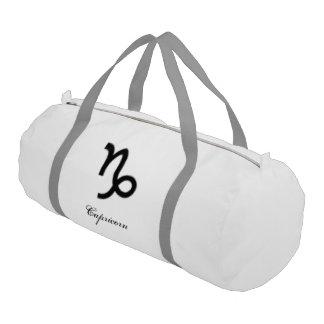 山羊座の(占星術の)十二宮図の記号の標準 ジムバッグ