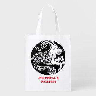 山羊座- (占星術の)十二宮図の買い物袋 エコバッグ