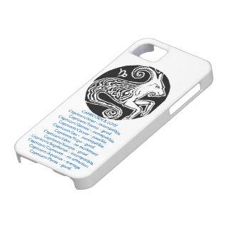 山羊座- (占星術の)十二宮図の電話箱 iPhone SE/5/5s ケース
