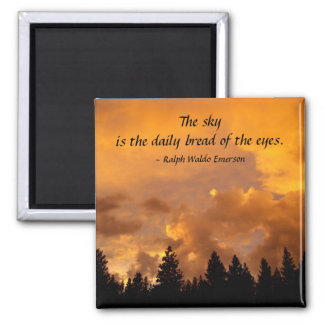 山脈の日没 マグネット