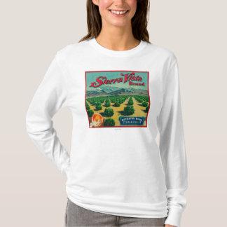 山脈ヴィスタのブランドの柑橘類の木枠のラベル Tシャツ