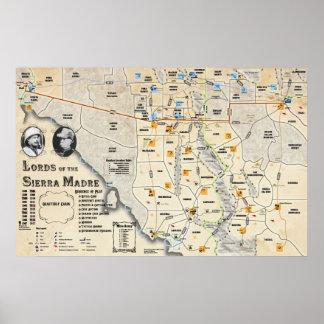 山脈Madreの地図ポスターの主 ポスター