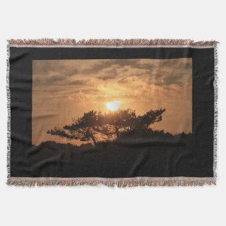 山腹の日没のブランケット スローブランケット