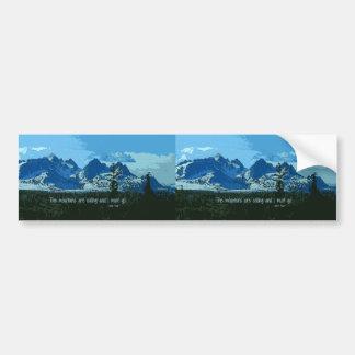 山頂のデジタル芸術-ジョンMuirの引用文 バンパーステッカー
