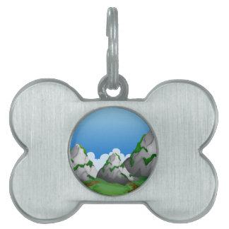 山 ペットネームタグ