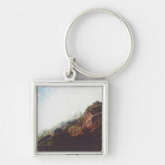 山、リラックスさせるな自然の景色場面 キーホルダー
