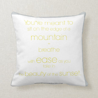 山-枕の端に坐らせて下さい クッション