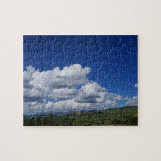 山、青空、Escalanteで、ユタ ジグソーパズル