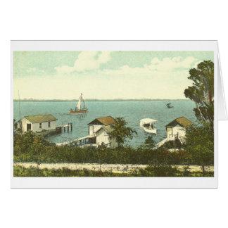 山、Dora、FLのボートハウスRow 1907年 カード