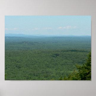 山Agamenticus、メインからの眺め ポスター