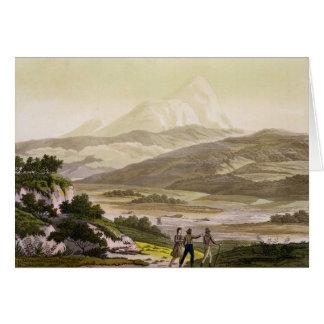 山Cayambe、「Le Costume Ancienからのエクアドル、と カード