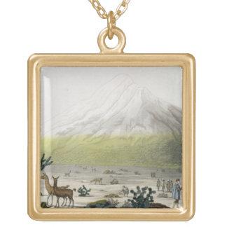 山Chimborazo、「Le Costume Ancienからのエクアドル、 ゴールドプレートネックレス