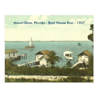 山Dora、Fl -ボートハウスの列- 1907年 ポストカード
