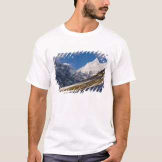 山Jichuドレーク、ブータンの眺め Tシャツ