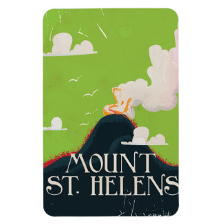 山St.ヘレンの火山旅行ポスター マグネット